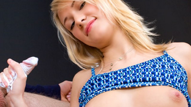 Crazy Handjob Session With A Cute Skinny Blonde